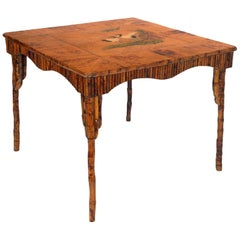 Unobtainable Fabulous Art Deco Bamboo Lacquered Table