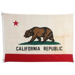Original Vintage Cotton California Flag