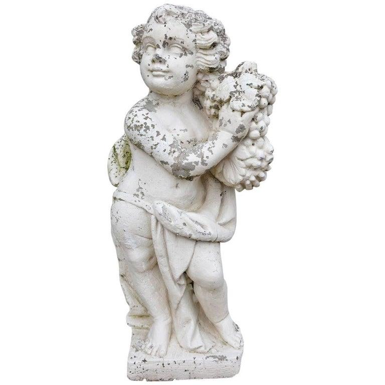 Victorian Garden Stone Putti For Sale