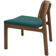 Albert Lounge Chair, Solid Wood and Upholstery