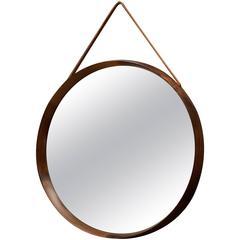 Rosewood Round Luxus Mirror by Uno & Östen Kristiansson