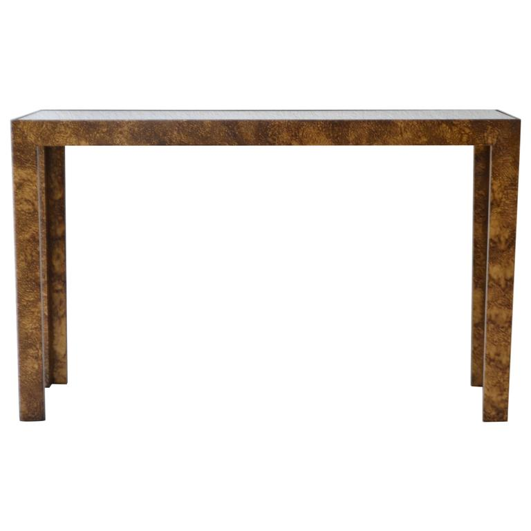 Amazing Mid Century Parsons Style Console Table 1