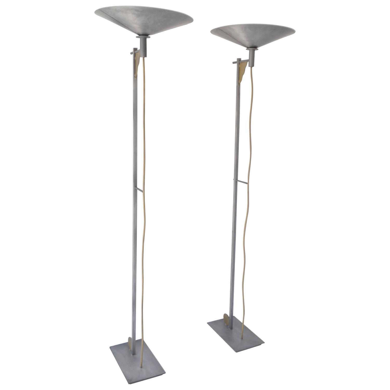 george kovacs floor lamps   for sale at stdibs - pair of postmodern torchiere floor lamps by george kovacs