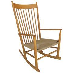 Beech Hans Wegner J 16 Rocking Chair