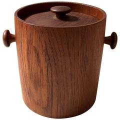 Danish Modern Solid Teak Ice Bucket