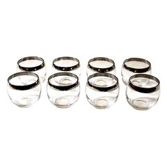"Set of Eight Mid-Century Modern Dorothy Thorpe ""Roly-Poly"" Glasses"