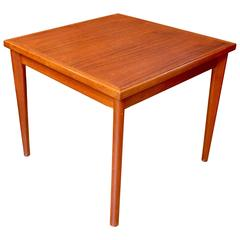 1960s Danish Modern Teak Game Table with Reversible Top by Furbo