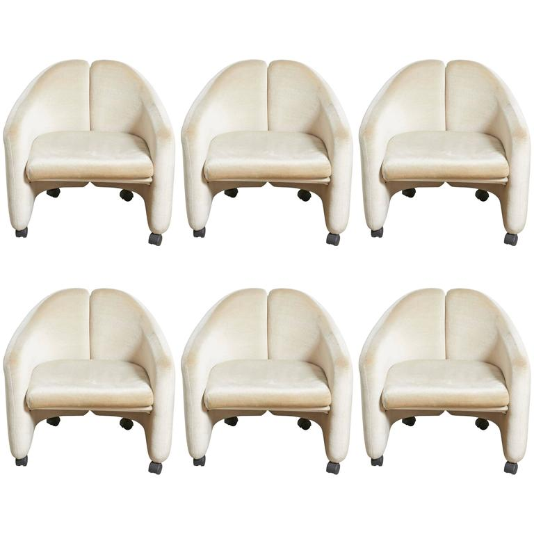 """Set of Six Eugenio Gerli for Tecno """"142"""" Chairs, 1970s, Italy"""