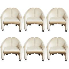 "Set of Six Eugenio Gerli for Tecno ""142"" Chairs, 1970s, Italy"