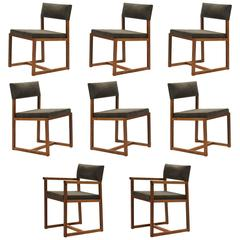 De La Espada Black Walnut Dining Chairs