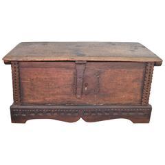 18th Century, Spanish Walnut Coffee Table or Document Box