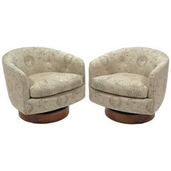 Milo Baughman Barrel Back Chairs by Directional