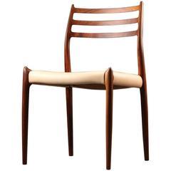 1950s Niels Otto Møller Model 78 Rosewood and Side Chair for J.L. Møller