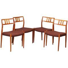 1960s Model 79 Teak Dining Chairs by Niels Otto Møller for J.L. Møllers
