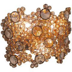 Palwa Crystal and Gilt Wall Sconce Germany 1960s