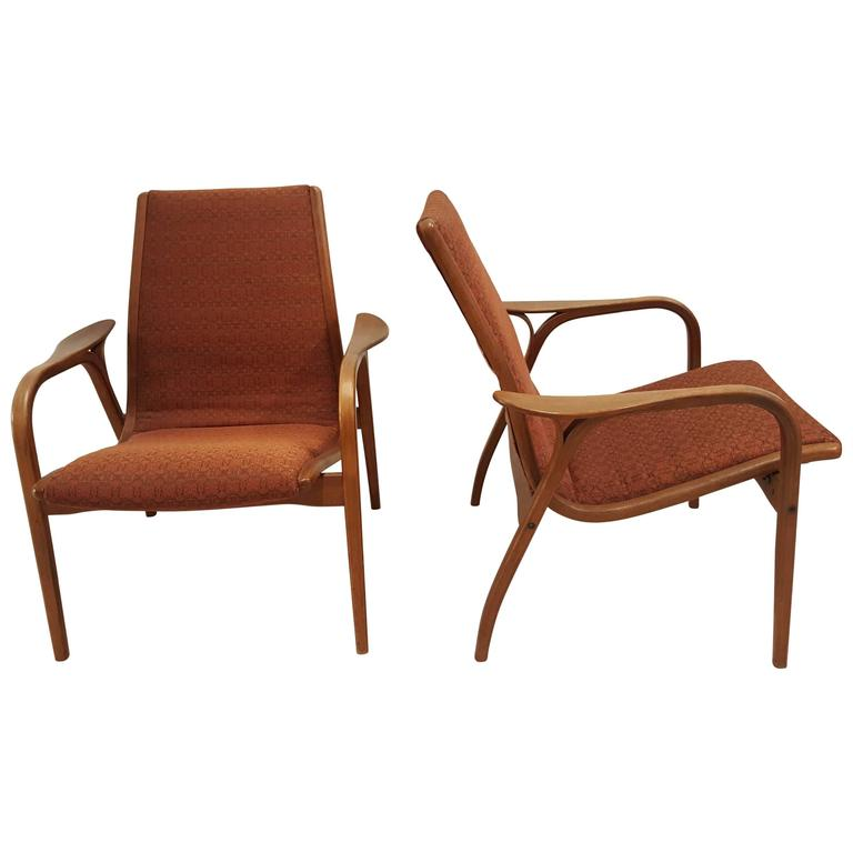 Pair of Yngve Ekstrom of Sweden Lounge Chairs