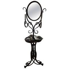 Thonet  bentwood Vanity Mirror Toiletten Spiegel 1904 nr 1 Exclusive  Complete