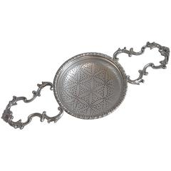 Very Fine Early George III Two Handled Fruit Strainer Made by Samuel Herbert
