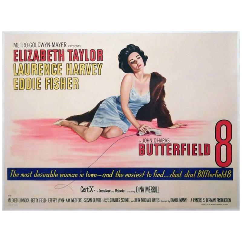 """Butterfield 8"" Film Poster, 1960"