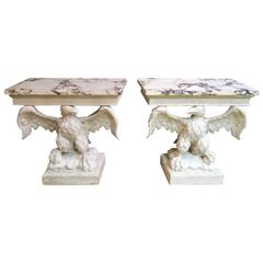 Pair of Carved Eagle Consoles