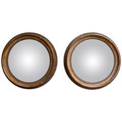 Pair of Regency Convex Wall Mirrors