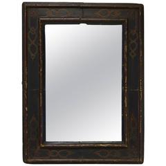 Large Ebonized and Engraved Mirror, France, 19th Century
