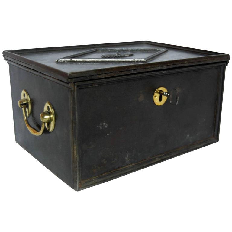 19th Century Cast Iron Strong Box