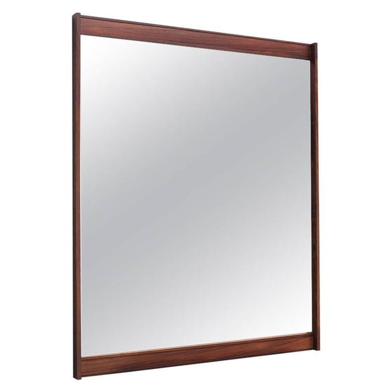 Swedish Panorama Mirror in Wood