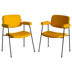 Pair of Armchairs CM 197 by Pierre Paulin, Edition Thonet, France, 1958