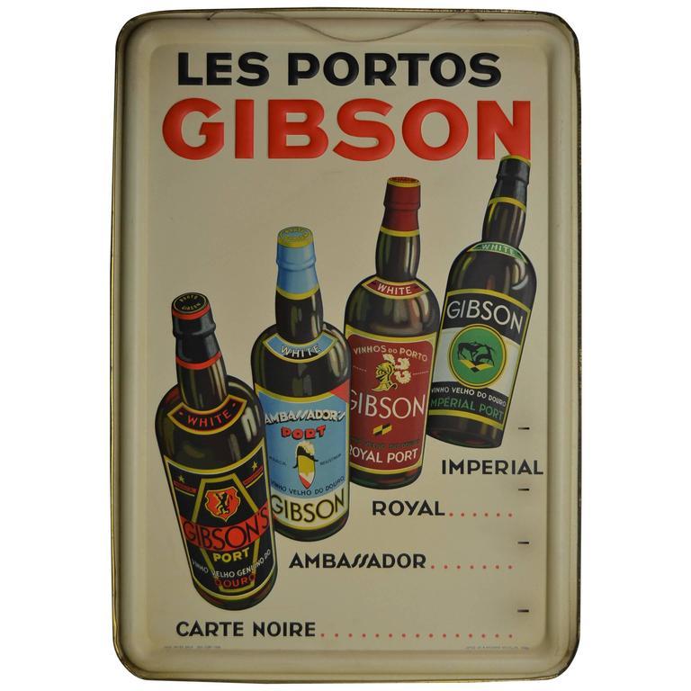 1936 Les Portos Gibson Sign
