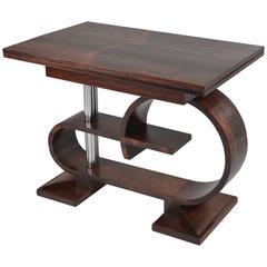 Art Deco Rosewood Folding Table