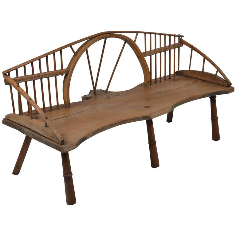 Unusual Windsor Style Country Bench For Sale At 1stdibs