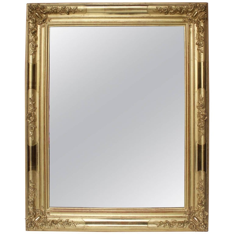 Early 19th Century French Giltwood Mirror For Sale