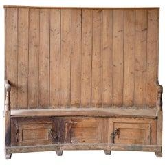 English 18th Century Pine Bacon Settee