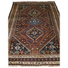 Old South West Persian Rug with Tribal Design, Shiraz Region