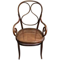 Armchair Thonet bentwood  Nr 1 First Design Splitted Beech Thin Back, 1865