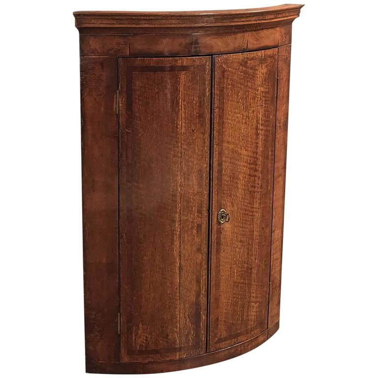 18th Century Antique Corner Cabinet, Georgian Hanging Cupboard, circa 1780  For Sale - 18th Century Antique Corner Cabinet, Georgian Hanging Cupboard