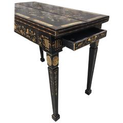 English Export Chinoiserie Games Table