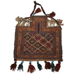 Antique South Persian Salt Bag by the Afshar Tribe, Soumak, Late 19th Century