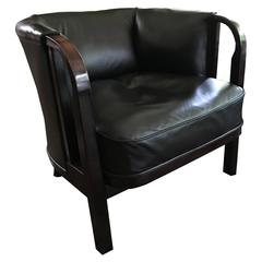 Club  bentwood Armchair Thonet, 1911-1915 Labeled Newly Upholstered in Leather