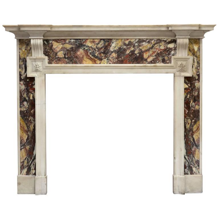 19th Century Victorian Marble Mantel