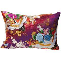 Custom Pillow Cut from a Vintage Silk Japanese Uchikake Wedding Kimono