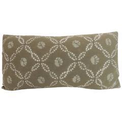 Vintage Japanese Shibori Decorative Bolster Pillow