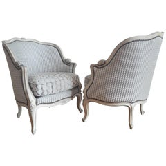 French Pair of Louis XV Bergère Napoléon III Period