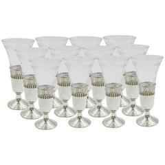Set of 12 Champagne Cordials