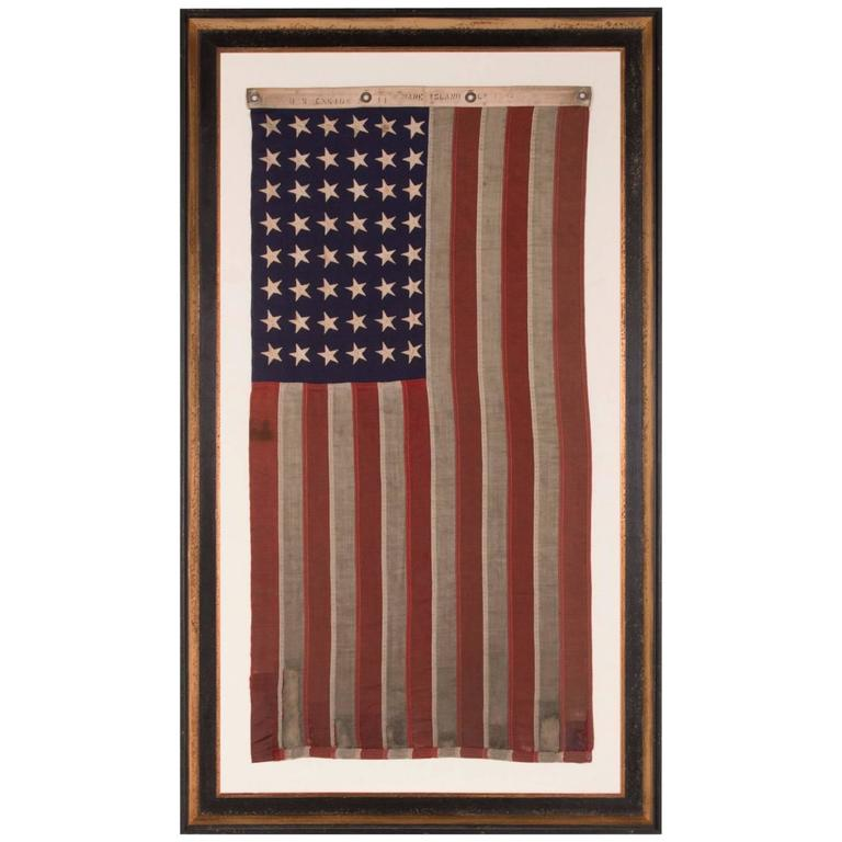 48 Star, U.S. Navy Small Boat Ensign, Dated July 1942