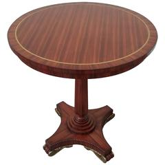 Arthur Brett Regency Style Circular Occasional Table