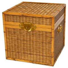 Faux Bamboo Wicker Campaign Style Box