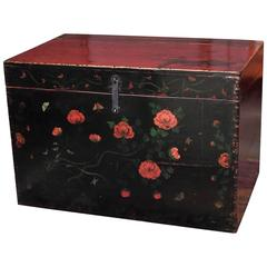 Antique Chinese Lacquered Trunk, Dongbei Province