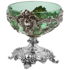 Rocco Pedestal Bowl with Green Liner